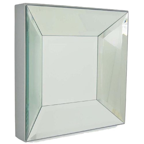 Decor-Rest Accent on Home Mirrors Conrad Square Wall Mirror