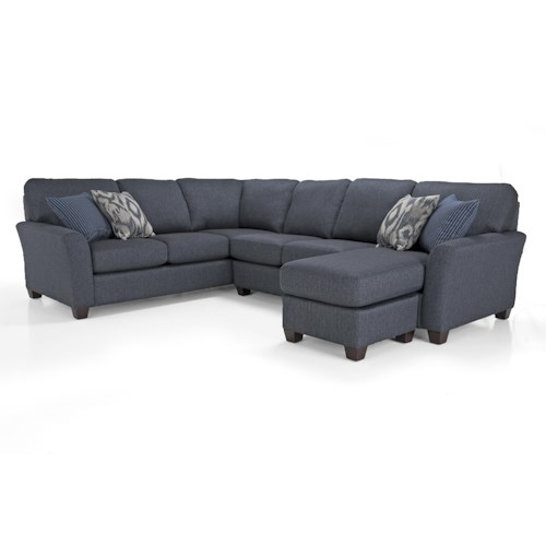 Decor-Rest Alessandra Connections Contemporary LHF Chaise Sectional