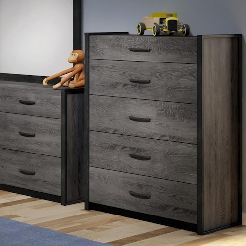 Defehr 538 5-Drawer Two Tone Chest