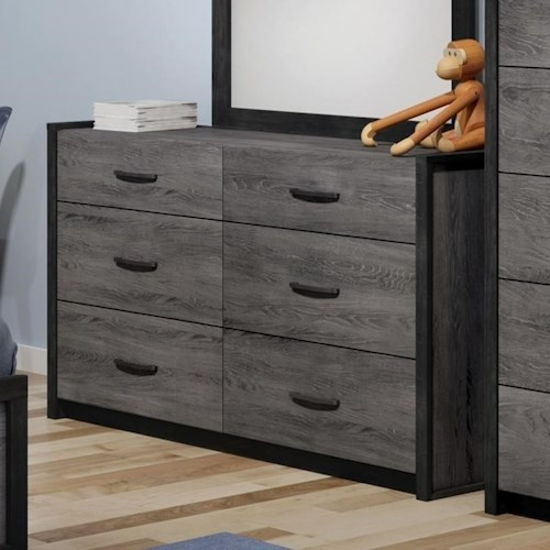 Defehr 538 6-Drawer Dresser