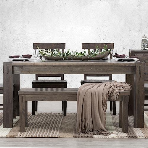 Defehr Stockton Rectangular Dining Table with Block Legs