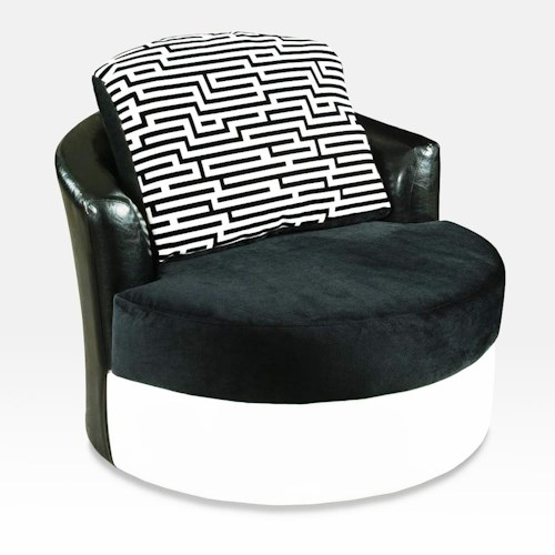 Delta Furniture Manufacturing 900 Contemporary Swivel Barrel Chair