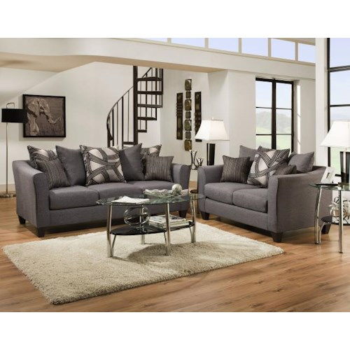 Del Sol Exclusive Astro Midnight 2 pc living room group Astro Midnight