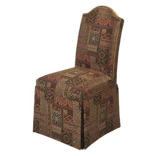 Designmaster Chairs  Chandler Nail Head Trim Skirted Side Chair