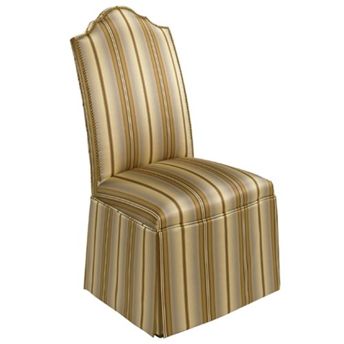Designmaster Chairs  Georgetown Overscaled Nail Head Trim Skirted Side Chair