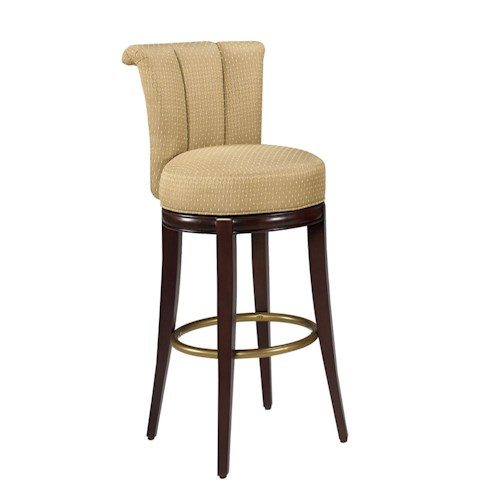 Designmaster Dining Stools Seneca Channel Back Swivel Bar Height Stool