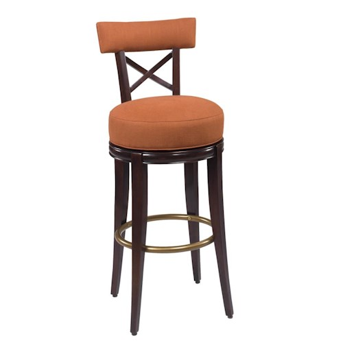 Designmaster Dining Stools Callaway 'X' Back Swivel Bar Height Dining Stool