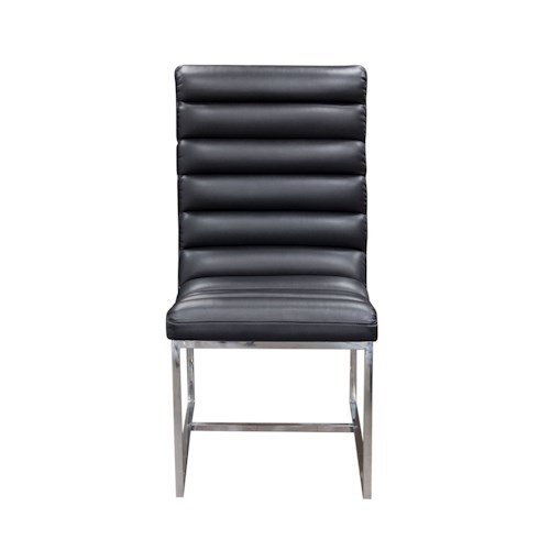 Diamond Sofa Bardot BL Upholstered Dining Chair with Stainless Steel Frame