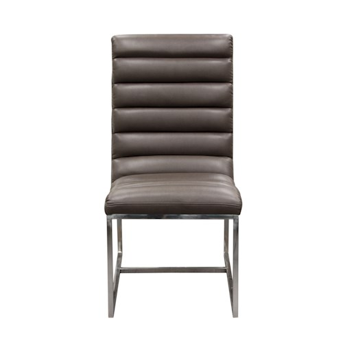 Diamond Sofa Bardot EG Upholstered Dining Chair with Stainless Steel Frame
