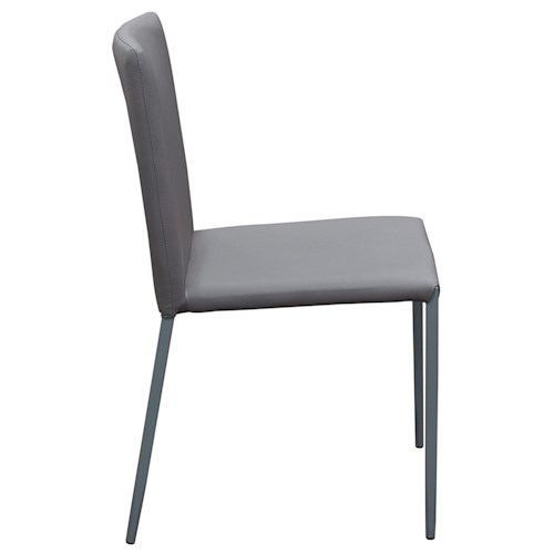 Diamond Sofa Urban Dining  2-Pack Stackable Dining Chairs in Grey with Metal Legs