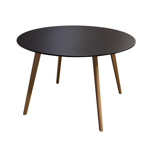Diamond Sofa Urban Dining  Round Retro Dining Table with Solid Oak Legs