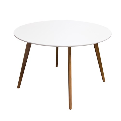 Diamond Sofa Urban Dining  Round Retro Dining Table with Solid Oak Legs