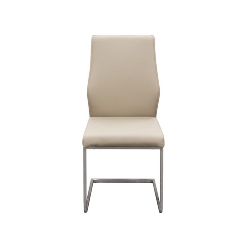 Diamond Sofa Urban Dining  2-Pack Spring Back Dining Chair with Chrome Base