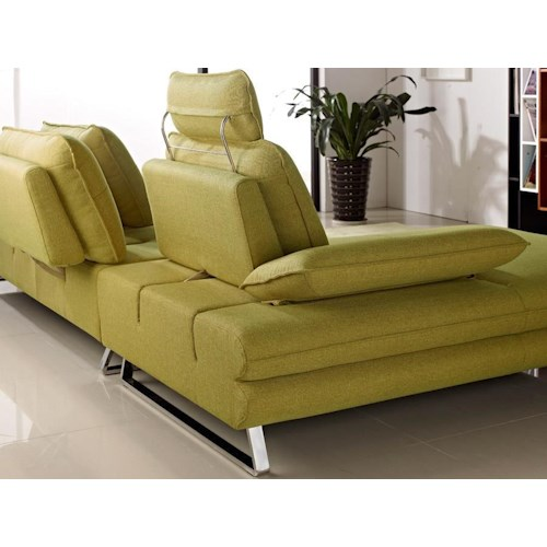 Diamond Sofa Eva Two Piece Left Facing Fabric Sectional with Adjustable Backs