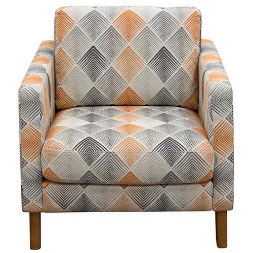 Diamond Sofa Keppel Fabric Accent Chair with Light Almond Wood Leg