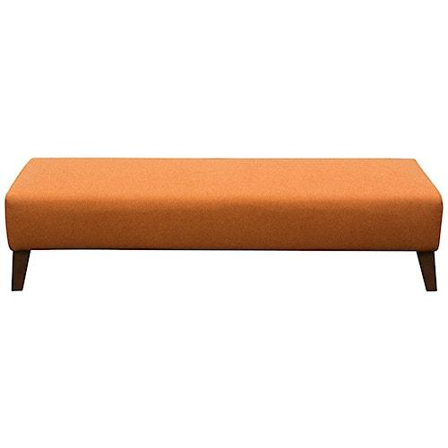 Diamond Sofa Keppel Solid Fabric Rectangular Ottoman