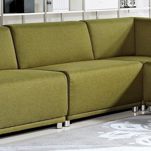 Diamond Sofa Moderna Contemporary Armless Accent Chair