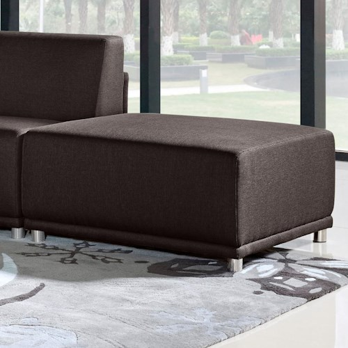 Diamond Sofa Moderna Contemporary Square Ottoman
