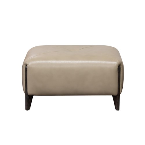 Diamond Sofa Monaco Rectangular Ottoman with Ash Wood Trim & Leg