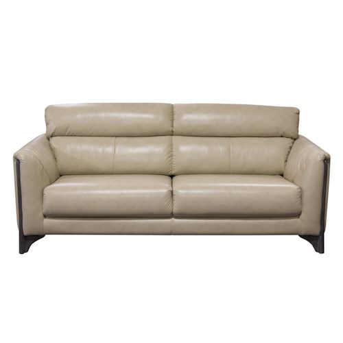 Diamond Sofa Monaco Sofa in Blended Leather with Ash Wood Trim & Leg