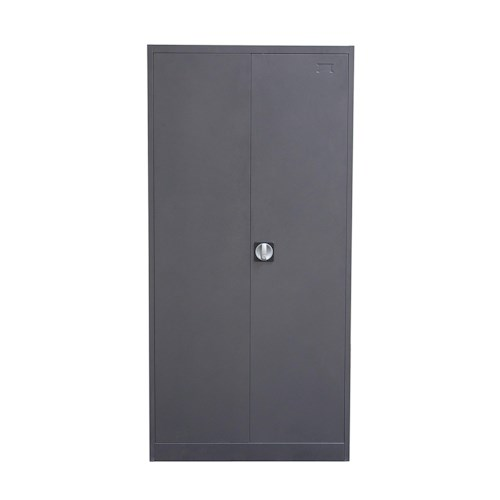 Diamond Sofa NOVA QwiK 2-Door Metal Closet with Safe & Mirror with Key Lock Entry
