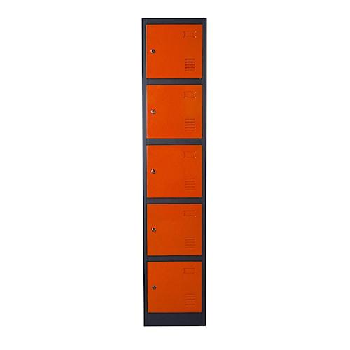 Diamond Sofa NOVA QwiK 5-Door Metal Storage Locker Cabinet with Key Lock Entry
