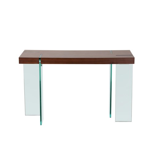 Diamond Sofa Occasional Tables & Entertainment Glass Leg Console Table