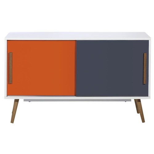 Diamond Sofa Tangent Tri-Color Storage Cabinet with Oak Legs