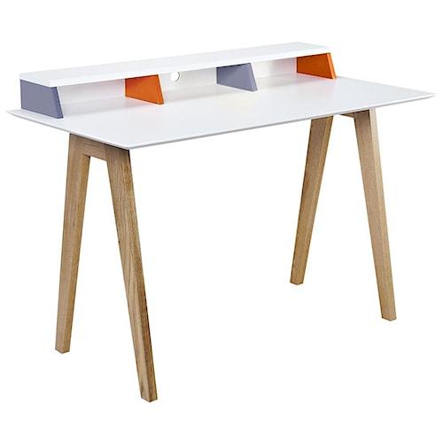 Diamond Sofa Tangent Tri-Color Desk Station with Oak Legs