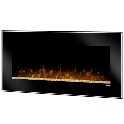 Dimplex Wall Mount Fireplaces Dusk Wall-Mount with Crushed Glass Embers