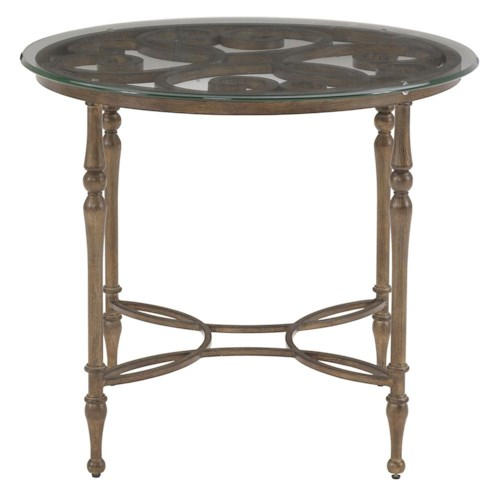 Drexel Heritage® At Home in Belle Maison Glass Top Arabesque Table