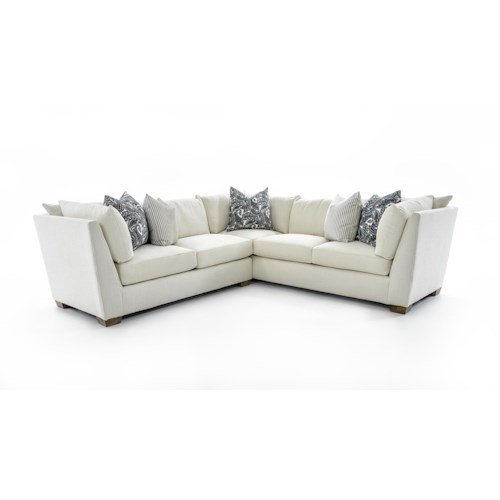 Drexel Heritage® Burton Two Piece Corner Sectional Sofa with Loose Back Pillows