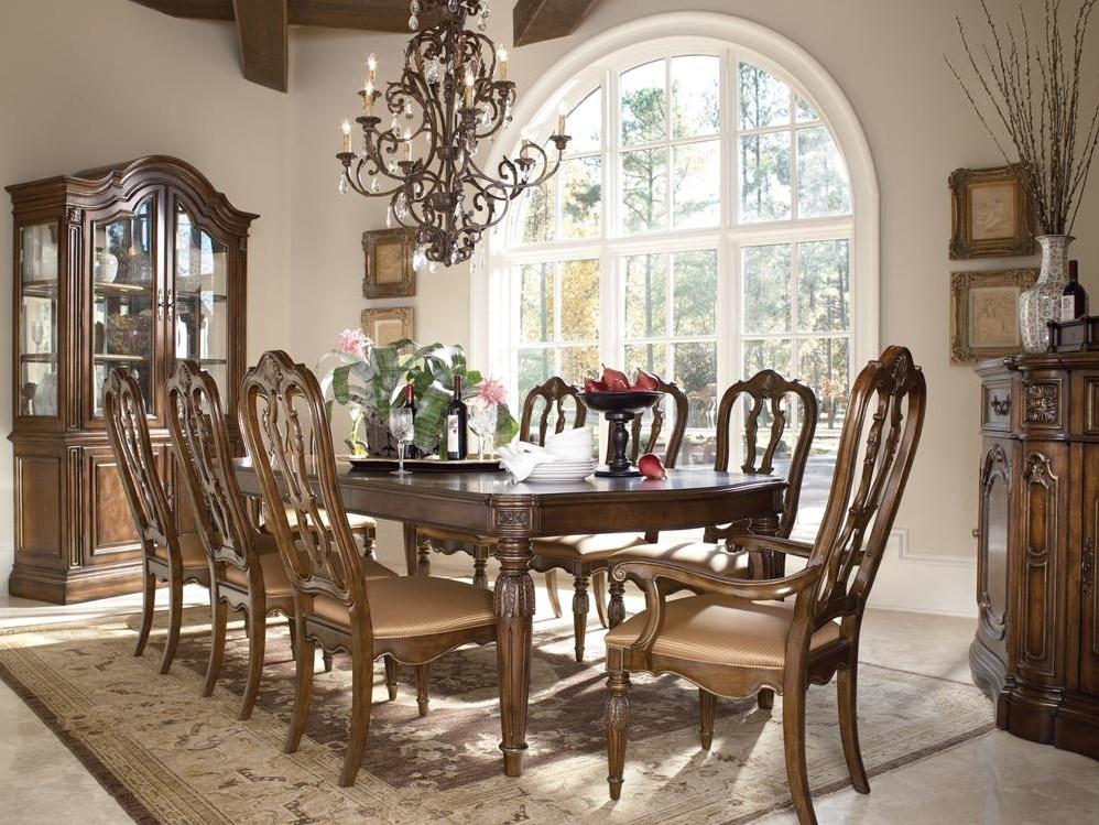 Shown with china cabinet and buffet