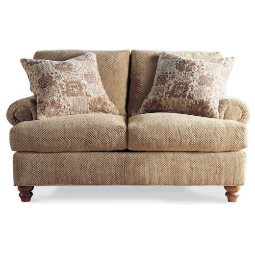 Drexel Heritage® Drexel Heritage Upholstery McDermott Love Seat w/ Rolled Arms