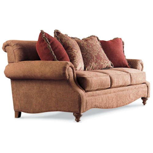 Drexel Heritage® Drexel Heritage Upholstery Kerry Sofa w/ Rolled Back