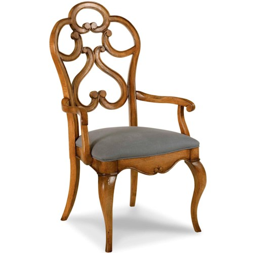 Drexel Heritage® European Market Gentry Arm Chair w/ Upholstered Seat