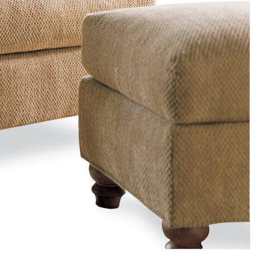 Drexel Heritage® Options Upholstery Program Customizable McDermott Ottoman
