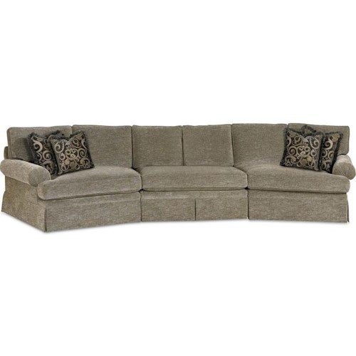 Drexel Heritage® Options Upholstery Program Customizable Natalie 3-Piece Sectional