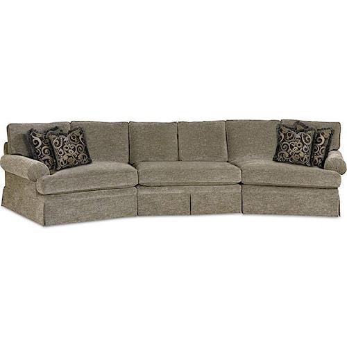 Drexel Heritage® Options Upholstery Program Customizable Natalie 3-Piece Sectional