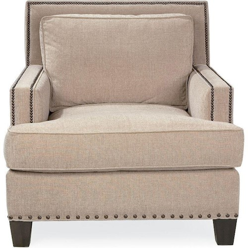 Drexel Heritage® Upholstered Accents Breland Upholstered Chair with Nailheads