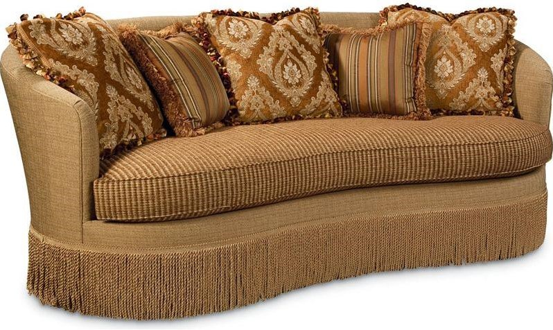 Shown with Custom Upholstery and Fringed Base