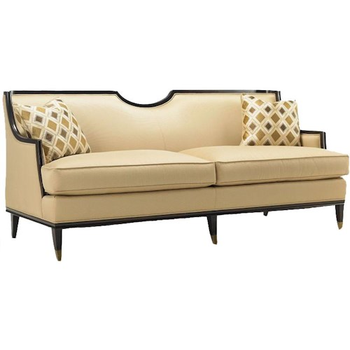Drexel Heritage® Upholstered Accents Sofa of Logic with Exposed Wood Accents