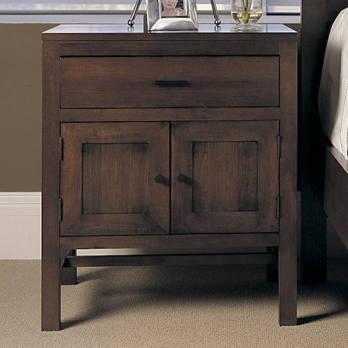 Durham Soma  Night Stand with 1 Drawer and 2 Doors