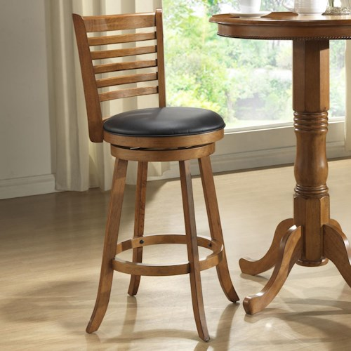 E.C.I. Furniture Bar Stools Rustic Dining Ladder Back Swivel Stool