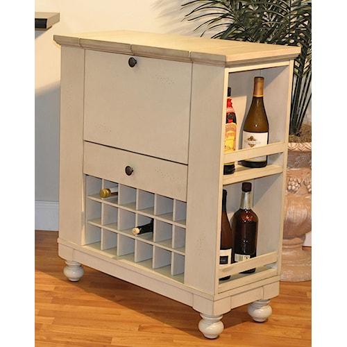 E.C.I. Furniture Dining  Wine/Spirit Cabinet: Antique White
