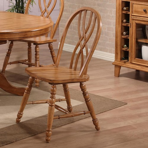 E.C.I. Furniture Dining  Double X-Back Solid Oak Side Chair