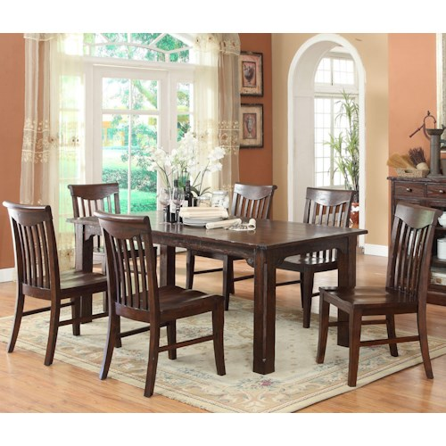 E.C.I. Furniture Gettysburg Table and 4 Side Chairs