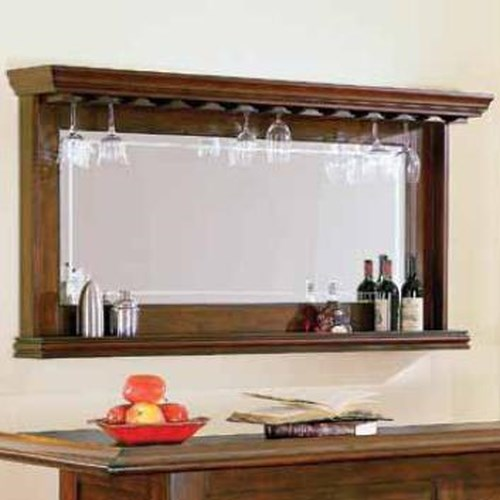 E.C.I. Furniture Nova Bar Mirror with Bottle Display