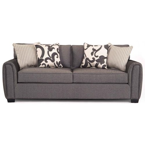 EJ Lauren Brooke Contemporary Sofa with Accent Pillows