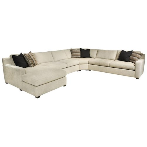 EJ Lauren Corinne  Contemporary Sectional Sofa with Left Side Chaise